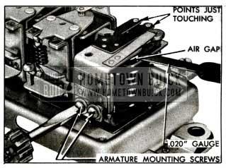 1955 Buick Adjustment of Cutout Relay Air Gap