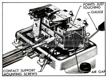 1955 Buick Adjustment of Voltage Regulator Air Gap
