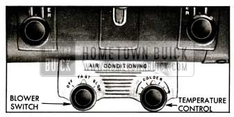 1955 Buick Air Conditioner Control Panel