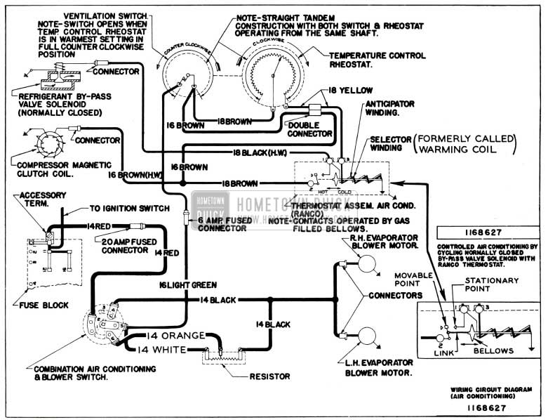 1955 Buick Air Conditioning Wiring Circuit