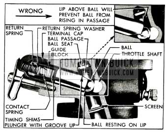 1955 Buick Assembly of Accelerator Vacuum Switch