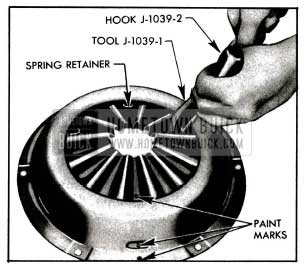 1955 Buick Attaching Spring Retainer to Cover