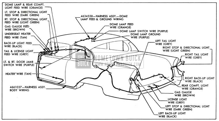 1955 buick wiring diagrams hometown buick  1955 buick wiring diagram #15