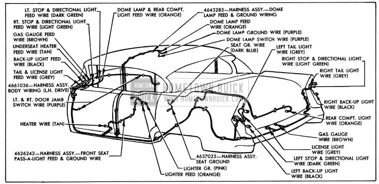 1955 buick wiring diagrams hometown buick  1955 buick wiring diagram #5