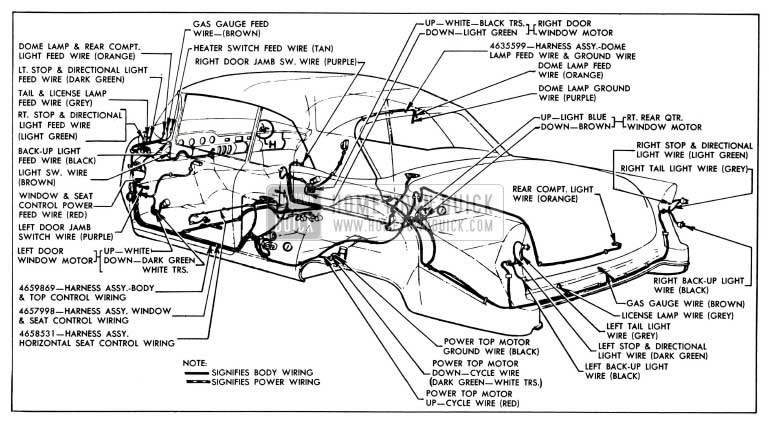 1955 buick wiring diagrams hometown buick  1955 buick wiring diagram #11