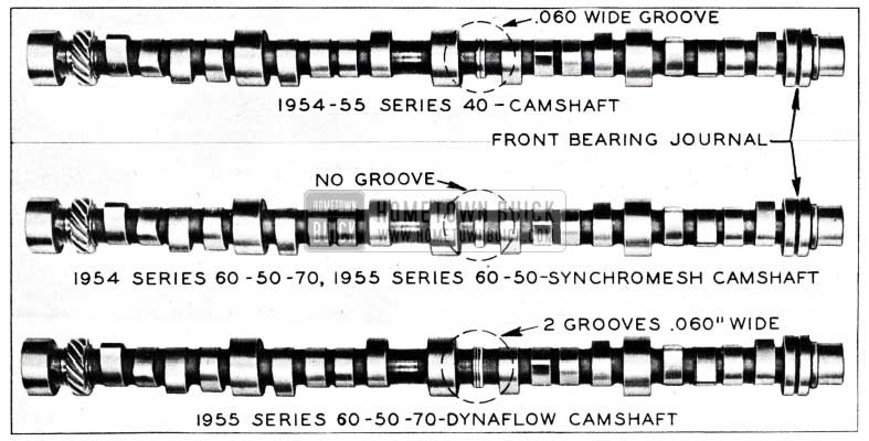 1955 Buick Camshaft Differences