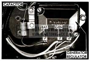 1955 Buick Capacitor Mounted on Generator Regulator