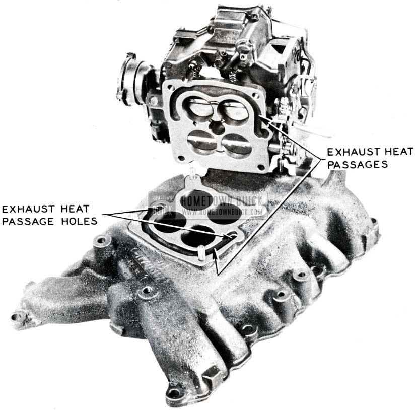 1955 Buick Carburetor to Engine Intake