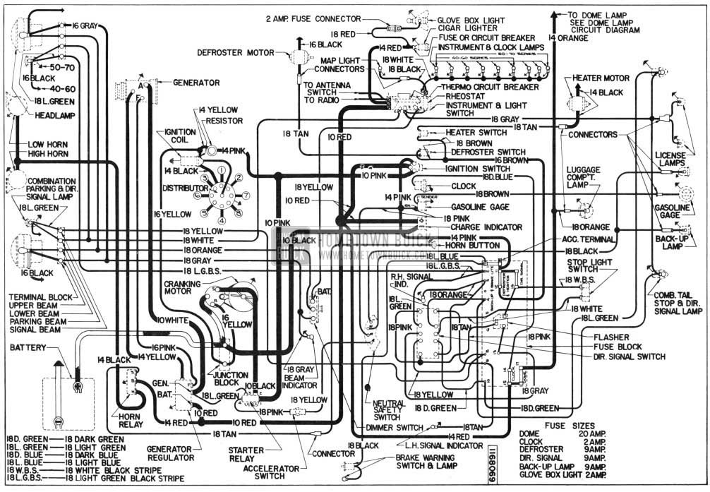 1955 buick electrical systems maintenance rh hometownbuick com 1995 Oldsmobile Wiring Diagrams Oldsmobile Steering Diagrams