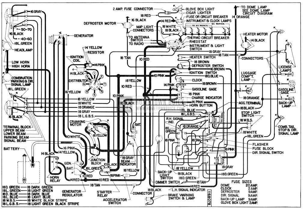 1955 buick electrical systems maintenance rh hometownbuick com 96 Buick LeSabre Wiring-Diagram Buick Century Wiring-Diagram
