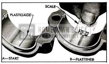 1955 Buick Checking Bearing Clearance with Plastigage