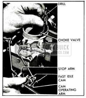 1955 Buick Checking Carter Choke Unloader Adjustment