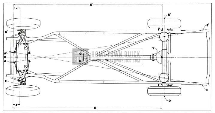 1955 Buick Checking Points for Frame and Suspension Alignment