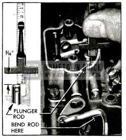 1955 Buick Checking Pump Plunger Adjustment with Scale