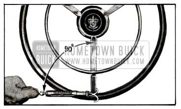 1955 Buick Checking Thrust Bearing or Lash Adjustment with Scale