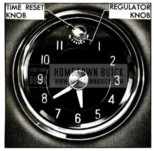 1955 Buick Clock Time Reset and Regulator Knobs