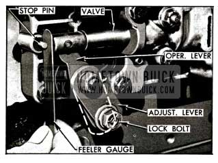 1955 Buick Control Valve Linkage Adjustments
