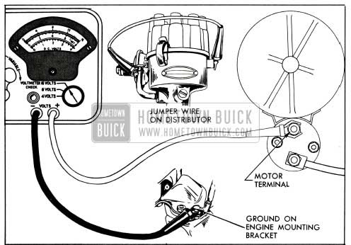 1955 Buick Cranking Voltage Test Connections