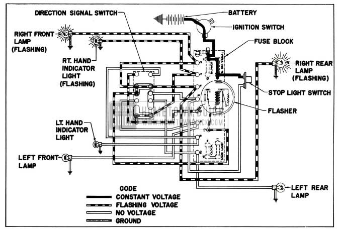 1955 Buick Signal System on horn wiring diagram