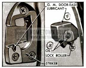 1955 Buick Door Lock and Striker-Series 40-60