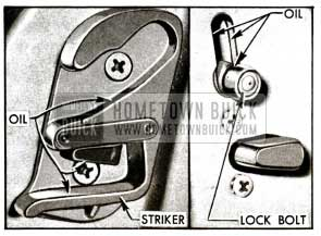 1955 Buick Door Lock and Striker-Series 50-70