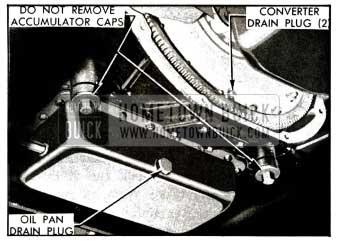 1955 Buick Dynaflow Transmission Drain Plugs