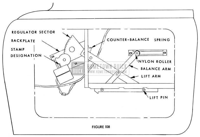 1955 Buick Electric Window Regulator Assembly