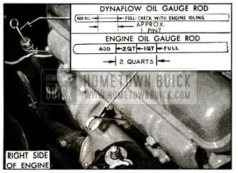 1955 Buick Engine and Dynaflow Oil Gauge Rods