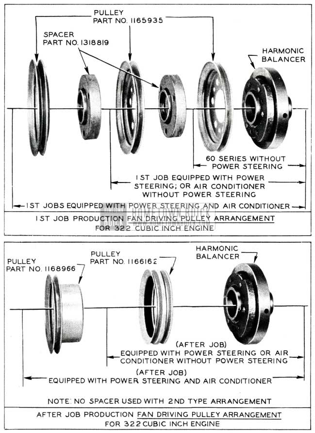 1955 Buick Engine Pulley Assembly