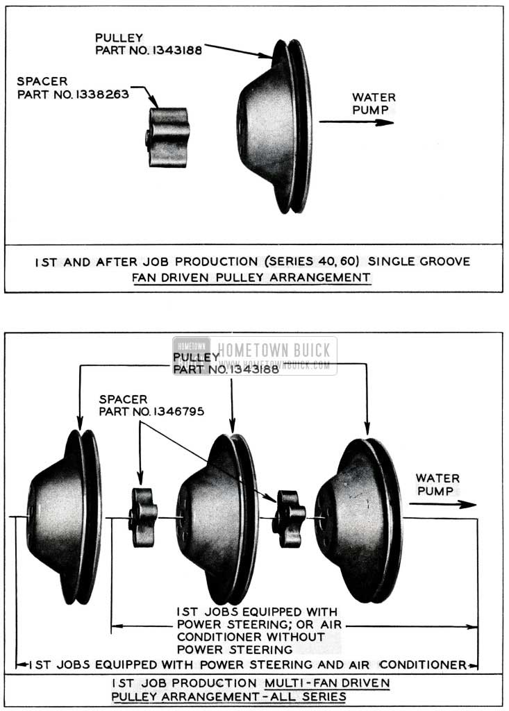 1955 Buick Fan Driven Engine Pulley