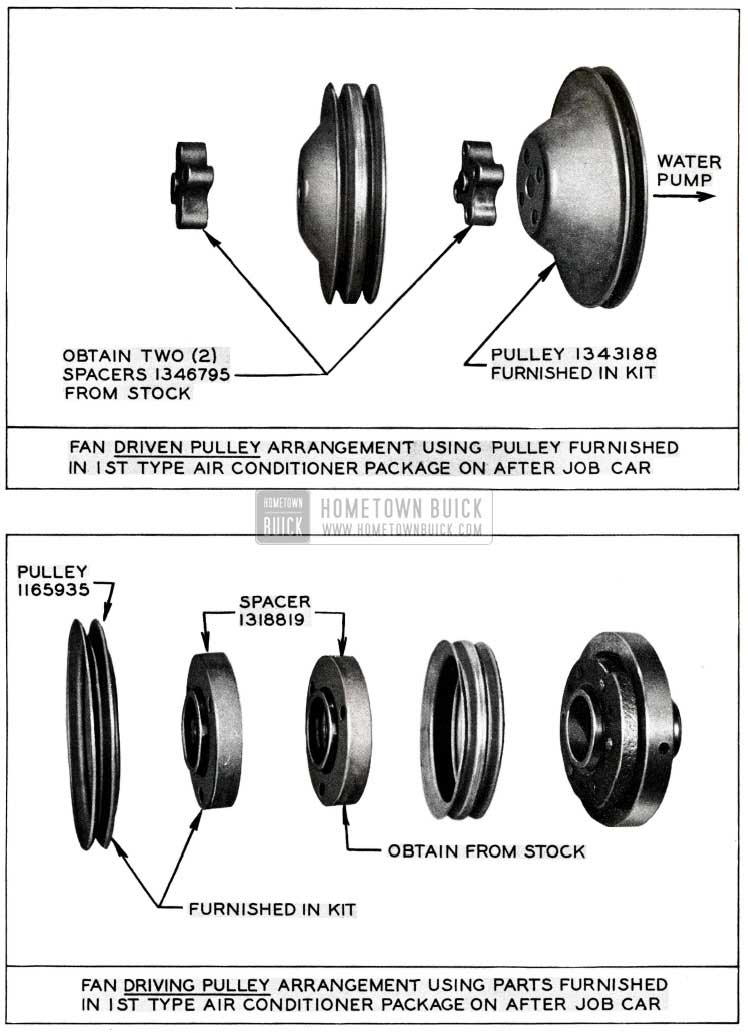 1955 Buick Fan Driven Pulley Arrangement