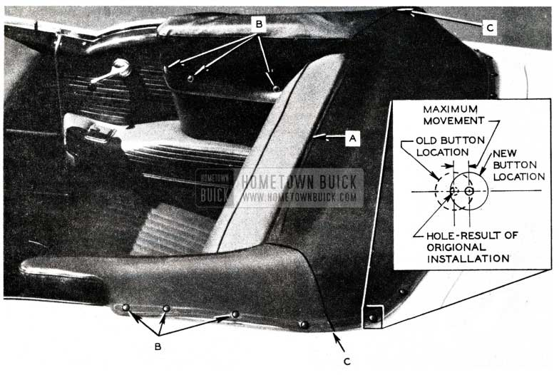 1955 Buick Folding Top Boot Installation