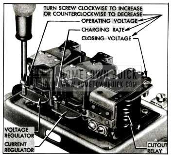 1955 Buick Generator Regulator Spring Tension Adjustments