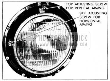 1955 Buick Headlamp Screws