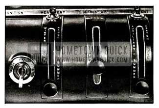 1955 Buick Heater, Defroster, Ventilator Controls
