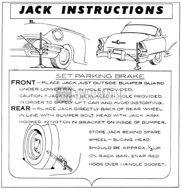 1955 Buick Jack Instructions