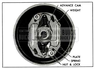 1955 Buick lnstallation of Advance Weights, Cam, Springs and Plate
