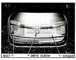 1955 Buick lnstallation of Balance Weight