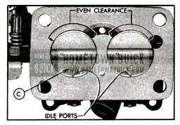 1955 Buick lnstallation of Throttle Valve.