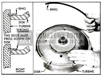1955 Buick lnstalling Disk Retaining Ring