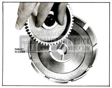 1955 Buick lnstalling Thrust Washer and Clutch Hub in Reaction Gear