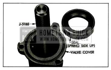 1955 Buick lnstalling Valve Cover Seal