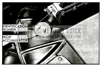1955 Buick Location of Dynaflow Transmission Identification Number