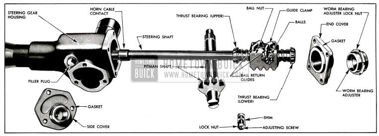 1955 Buick Manual Steering Gear Disassembled