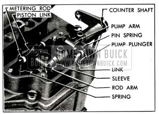 1955 Buick Metering Rod and Pump Operating Parts
