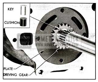1955 Buick Oil Pump Driving Gear and Key Installed