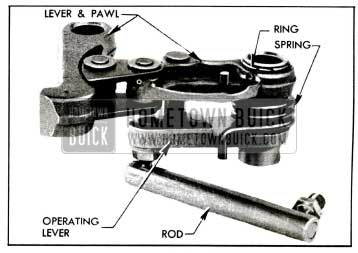1955 Buick Parking Lock Pawl and Lever Assembly