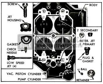1955 Buick Parts In Main Carburetor Body
