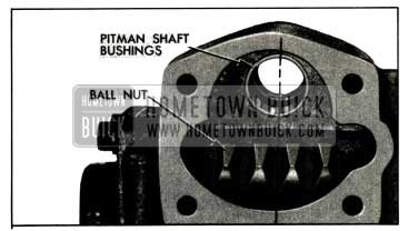 1955 Buick Position of Ball Nut for Installation of Pitman Shaft
