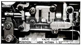 1955 Buick Position of Control Valve In Direct Drive Range
